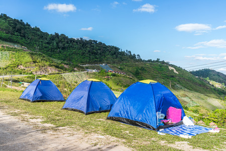 camping site on mountain of Thailand