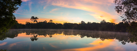 lake at sunrise on mountain Reklamní fotografie - 123027459