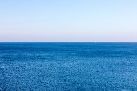 Calm water surface in blue sea