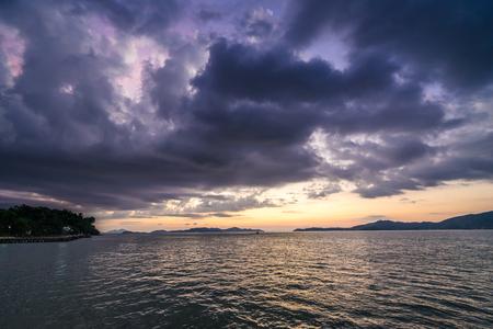 beautiful sunset on sea in Thailand Reklamní fotografie - 123027593