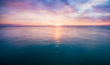 beautiful sunset on sea in Thailand Reklamní fotografie - 123027748