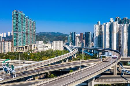 overlooking viaduct in Hong Kong China Reklamní fotografie - 123027755