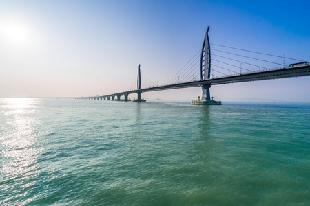 bridge over sea in Zhuhai China