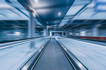 travelator with motion blur