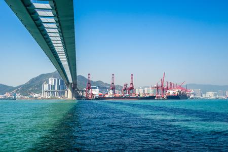 bridge on sea in Hong Kong