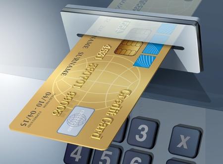 international bank account number: cash-machine Stock Photo