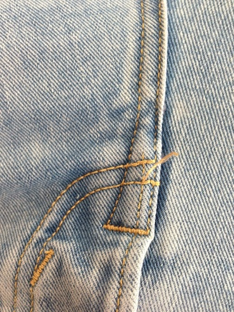 denim jeans: close up of a pair of denim jeans showing the detail in the material Stock Photo