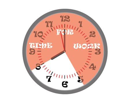 zeitarbeit: Red Sektor Zeitarbeit. Vektor-Illustration Illustration