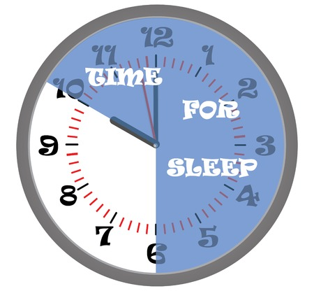 sector: Time for sleep, Clock and blue sector on the dial