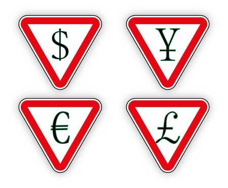 Sign Money Pound And Euro Dollar And Yen Vector Illustration