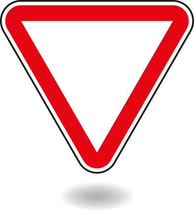 interjection: Sign mark in red triangle. Vector illustration