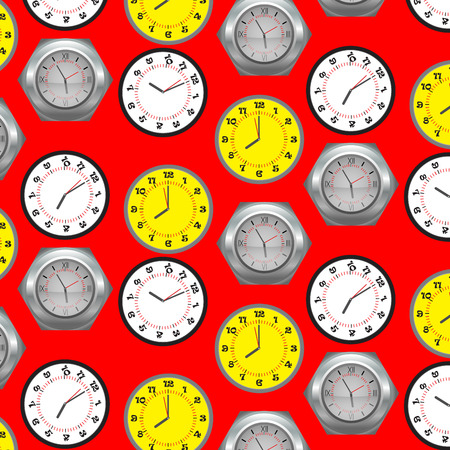 cover background time: Seamless pattern clock. Time and clock and minute design, vector, symbol