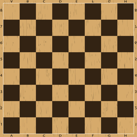 battle plan: Chess board. Strategy and sport decision plan battle conflict business and wooden texture vector illustration