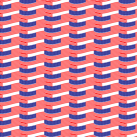 nation: Seamless pattern usa flag. Nation american, liberty and patriotism, vector graphic illustration Illustration