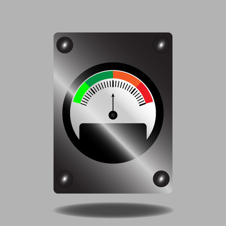 indicator panel: Spectral indicator. Measurement and pointer, panel control, vector graphic illustration