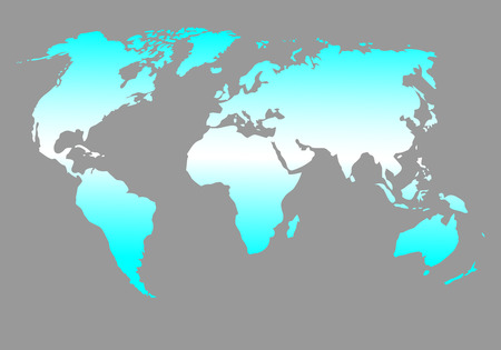 equator: World map blue. Global design geography, ball and travel, vector graphic illustration Illustration