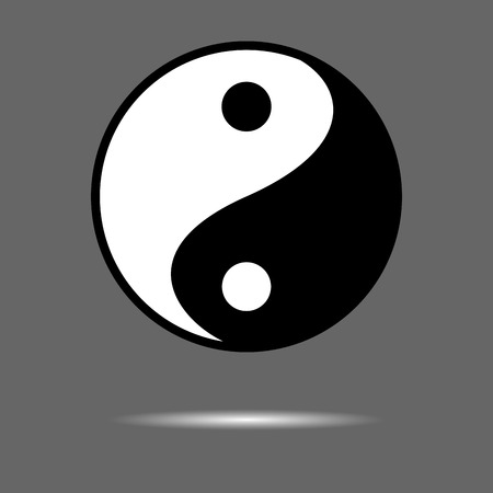 taoism: Yin Yang icon. Meditation and taoism and buddhism. Vector graphic illustration Illustration