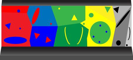 boulder: Artificial rock for competition climbing a boulder. Vector graphic illustration Illustration
