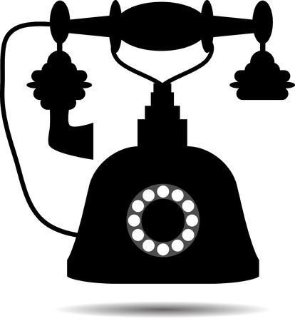 vintage phone: Retro telephone. Vintage phone, classic old, call connect, vector graphic illustration Illustration