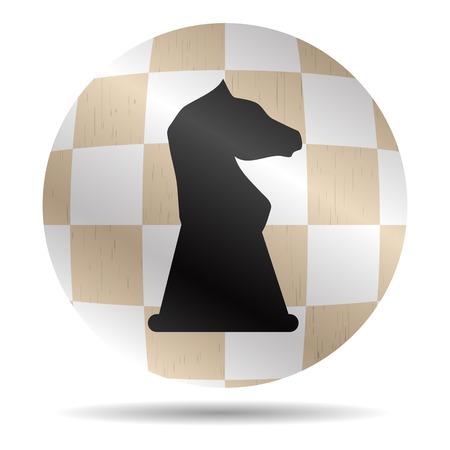 chess knight: Icona Cavaliere di scacchi. Scacchiera simbolo cavallo, scacco matto e rango, pulsante e segno, la strategia e lo sport. Grafica vettoriale illustrazione