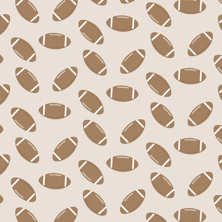 Seamless pattern american football. Equipment and goal, oval and professional. Vector illustration