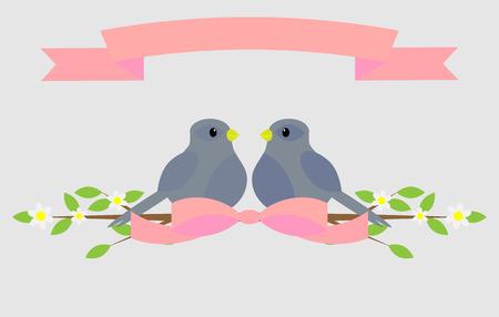 decoracion boda: Paloma Amoroso. P�jaro de la paz de la paloma y el amor, la boda de fiesta, decoraci�n de la naturaleza, pareja rom�ntica, ilustraci�n vectorial