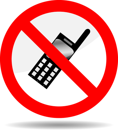 Ban Telephone Symbol Phone Prohibited Call Icon Forbid And