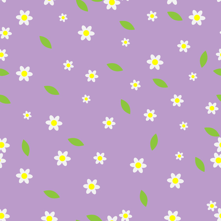 camomile flower: Seamless flower pattern camomile. Floral design blossom, summer decoration, vector art design abstract unusual fashion illustration Illustration