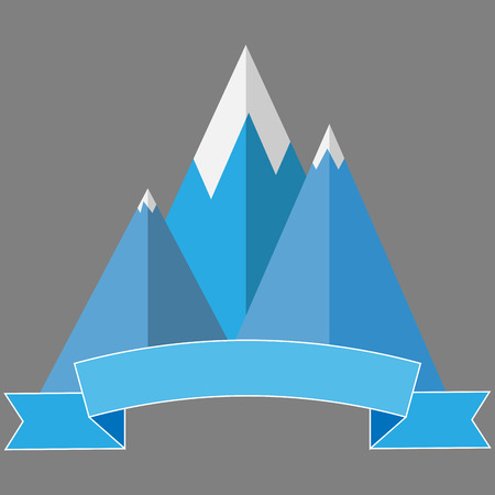 mountaineering: Logo mountaineering. Travel label, icon sport snow, expedition and tourism, vector art design abstract unusual fashion illustration
