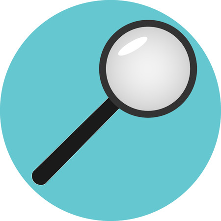deliberation: Icon analysis of search analytics. Optimization business, research analyze, magnifying glass, vector art design abstract unusual fashion illustration