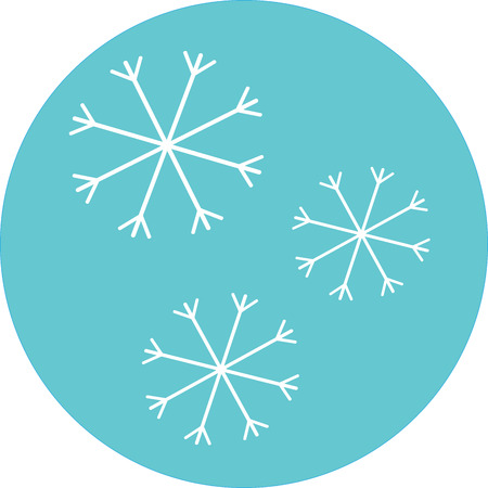 cold season: Snowflake icon label. Winter snow, design cold, season xmas sticker, christmas holiday, new year, vector art design abstract unusual fashion illustration