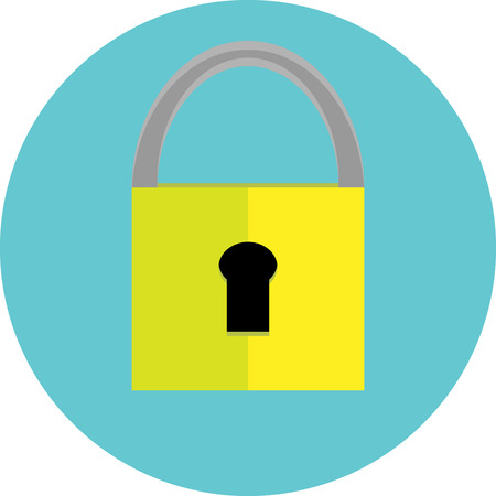 password protection: Padlock icon. Security web, safe protection, password and internet, system privacy, vector art design abstract unusual fashion illustration