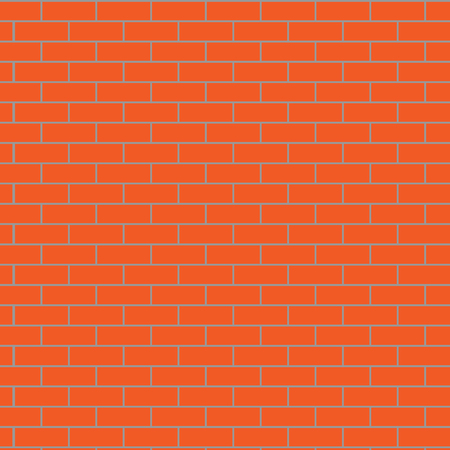 concrete block: Seamless brick wall orange. Pattern background, surface stone, concrete block, design exterior, vector art design abstract unusual fashion illustration