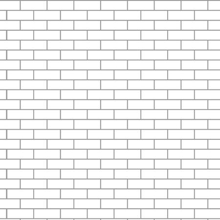 stonework: Seamless brick wall white. Texture pattern gray, background surface, stone block design exterior, vector art design abstract unusual fashion illustration