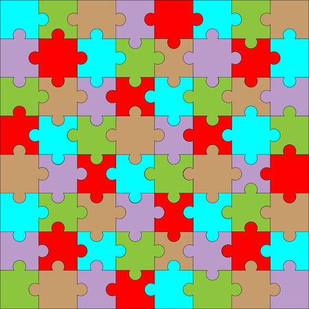 art piece: Puzzle pattern color. Background design game, piece and jigsaw abstract connection. Vector art design abstract unusual fashion illustration
