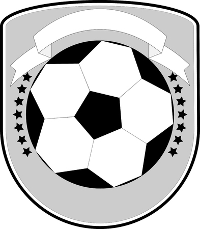 soccer team: Soccer   football team. Sport tournament, badge or label, banner for school and shield. Vector art design abstract unusual fashion illustration Illustration