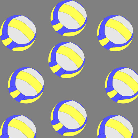 repetition: Seamless volleyball pattern. Background ball, endless and repetition. Vector art design abstract unusual fashion illustration