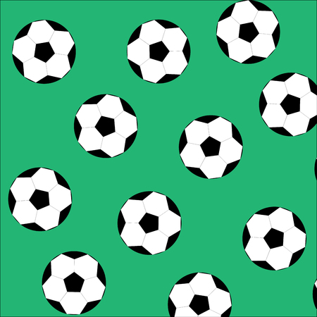 game play: Soccer ball seamless pattern. Football sport, game play design. Vector art design abstract unusual fashion illustration