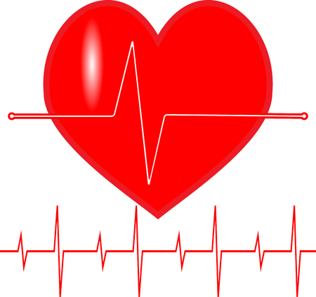 heartbeat line: Pulse heartbeat icon. Line life, cardiogram wave, symbol medical, beat healthy. Vector art design abstract unusual fashion illustration