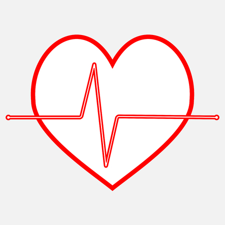 frequency: Pulse heartbeat icon line. Analysis medical beat, frequency and cardiology. Vector art design abstract unusual fashion illustration
