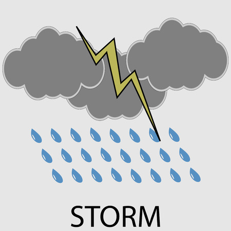 cold weather: Icon weather storm. Meteorology temperature, cold wind lightning. Vector art design abstract unusual fashion illustration