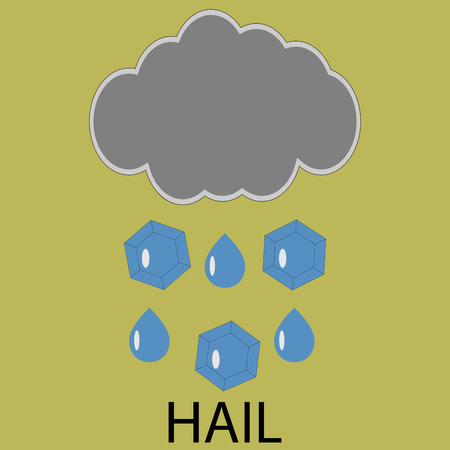 hailstone: Icon weather hail. Cloud storm, forecast meteorology, cyclone and climate. Vector art design abstract unusual fashion illustration
