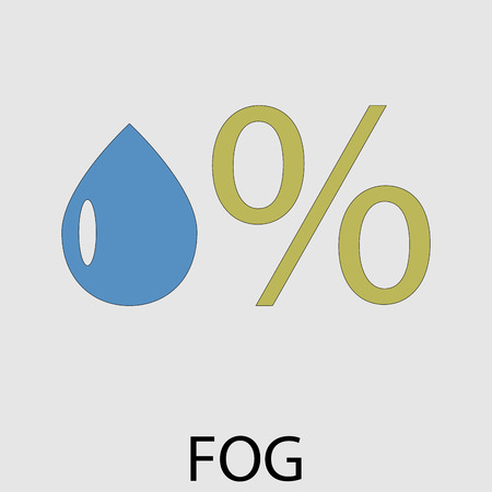 humidity: Icon weather fog. High humidity, weather meteorology. Vector art design abstract unusual fashion illustration