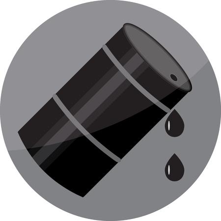 barell: Flat icon oil barrel. Gasoline industry, black oil, fuel energy, barrel tank, container or keg storage. Vector art abstract unusual fashion illustration Illustration