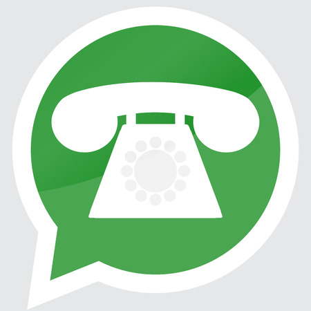vintage phone: Sticker phone apparatus design flat. Telephone dial, retro vintage phone, call icon, app mobile. Vector art abstract unusual fashion illustration