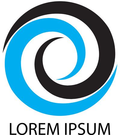 Logo business circular whirlpool. Business whirlpool, circular logo, swirl logo, round vortex logo, spiral company logo. Vector abstract flat design illustration