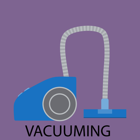 house cleaner: Vacuuming icon sign cleaning device. Vacuum cleaner,  cleaning, house cleaning, vacuum icon, vacuum device, cleaner household, appliance tool, housework cleaning. Vector illustration Illustration