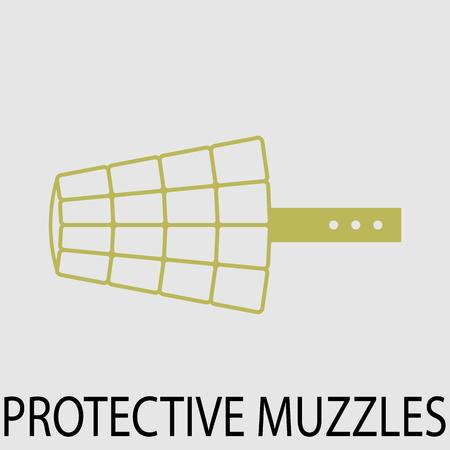 muzzle: Protection muzzle animal dog.