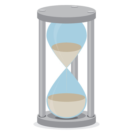 hour glass: Sand glass isolated. Time clock and hourglass icon, hourglass isolated and sand clock, stopwatch sand, hour glass time, countdown timer measure. Vector flat design illustration Illustration