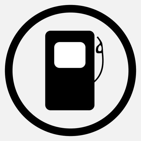 fuel pump: Fuel station icon black white. Fuel and gas station, fuel pump and petrol station, gasoline station and station icon fuel, pump and energy. Vector flat design illustration